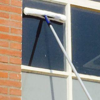 telescoopsteel ramen wassen